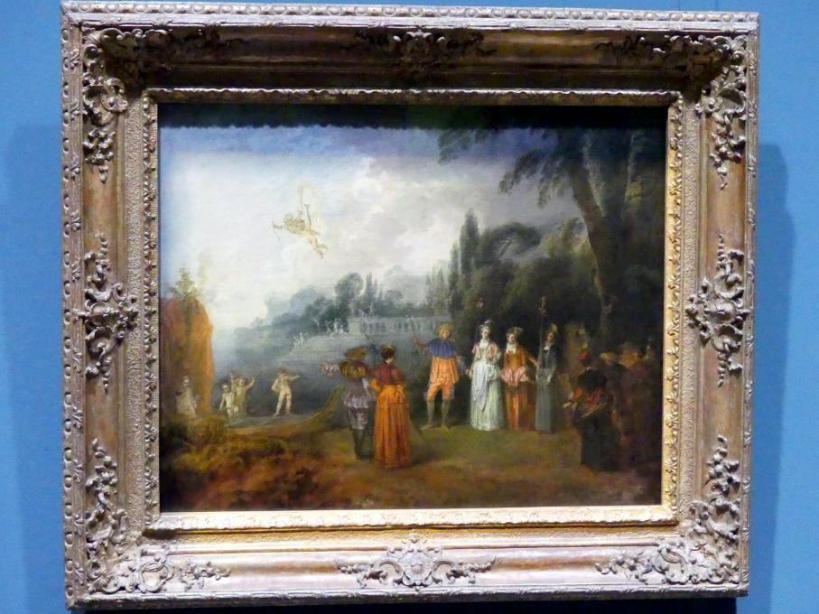 Antoine Watteau (Jean-Antoine Watteau): Die Einschiffung nach Kythera, um 1709 - 1710