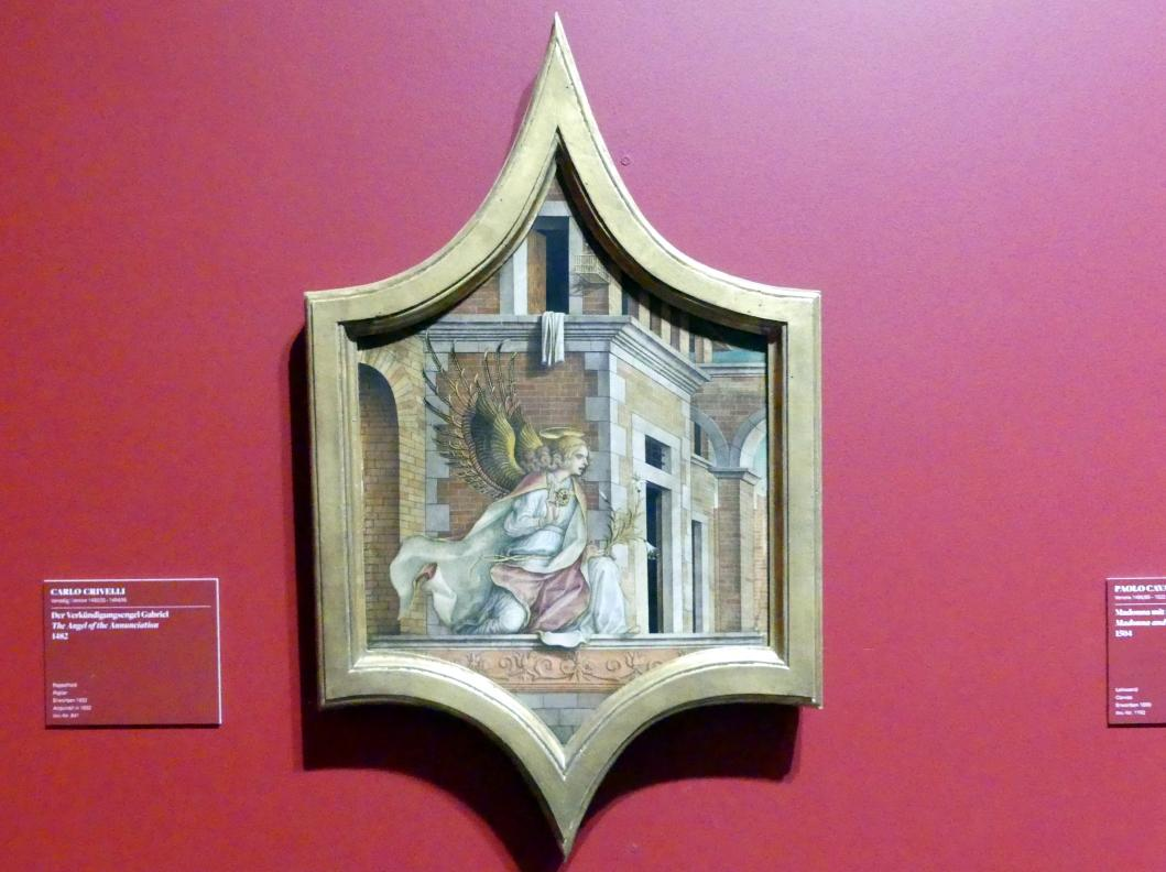 Carlo Crivelli: Der Verkündigungsengel Gabriel, 1482