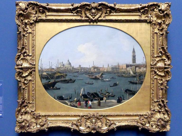 "Giovanni Antonio Canal (""Canaletto""): Ansicht des Bacino di San Marco in Venedig, um 1730 - 1740"
