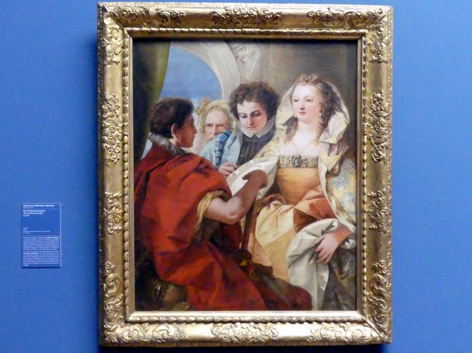 Giovanni Domenico Tiepolo: Die Enthaltsamkeit Scipios, Um 1751