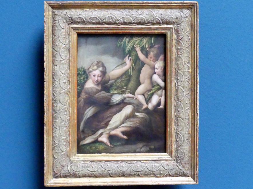 Parmigianino (Girolamo Francesco Maria Mazzola): Märtyrerin mit zwei Engelsknaben, um 1523 - 1524