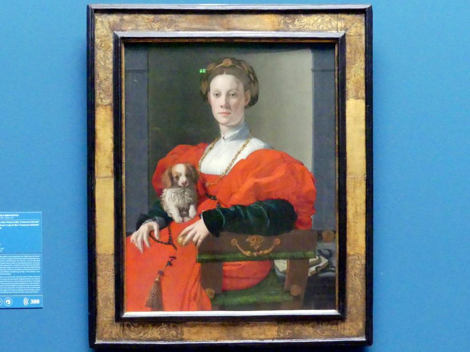 Agnolo di Cosimo di Mariano (Bronzino): Bildnis einer Dame in Rot (Francesca Salviati?), um 1533