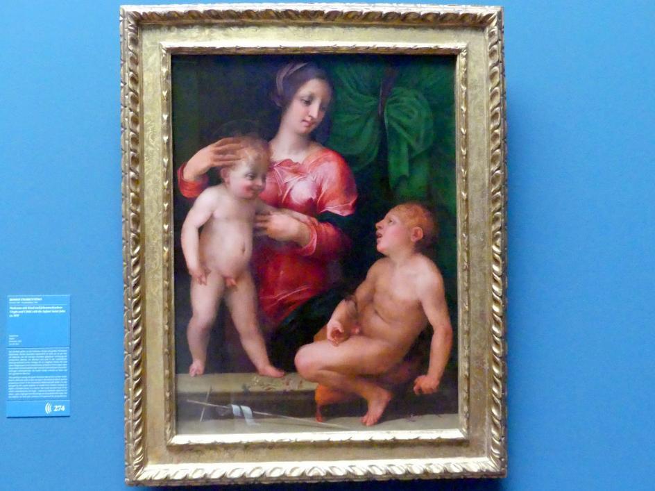 Giovan Battista di Jacopo (Rosso Fiorentino): Madonna mit Kind und Johannesknaben, Um 1515