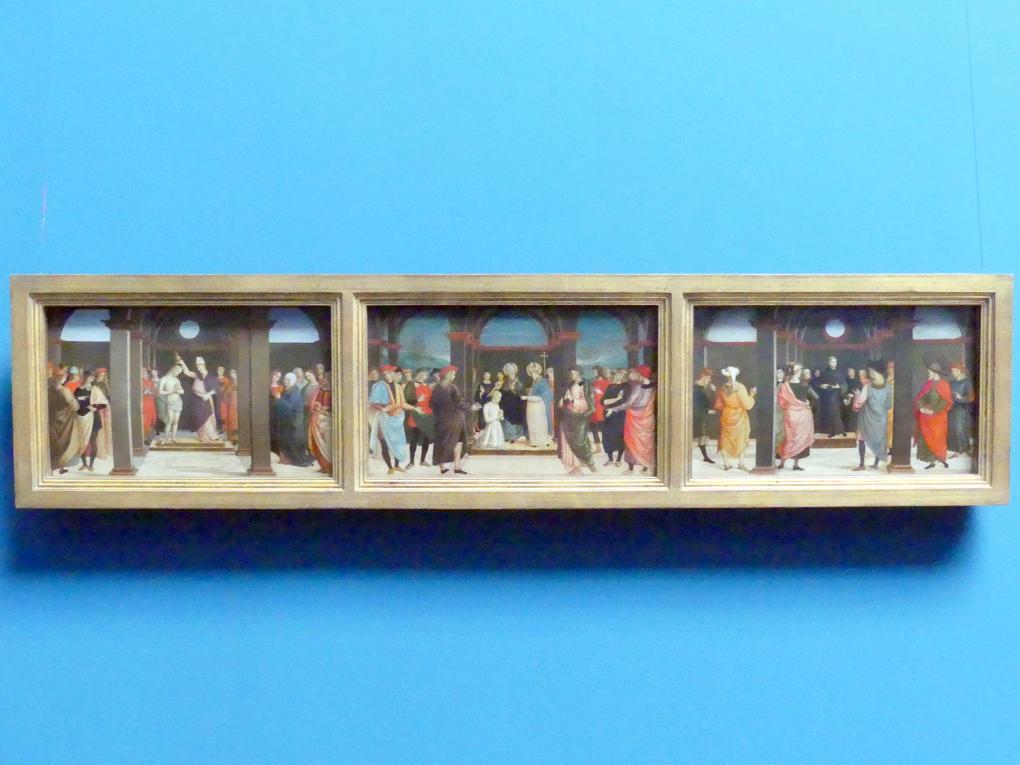 Pietro Perugino (Nachfolger): Szenen aus dem Leben des heiligen Augustinus, um 1510