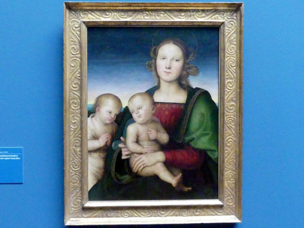 Pietro Perugino (Pietro di Cristoforo Vannucci): Madonna mit Kind und Johannesknaben, um 1495 - 1500
