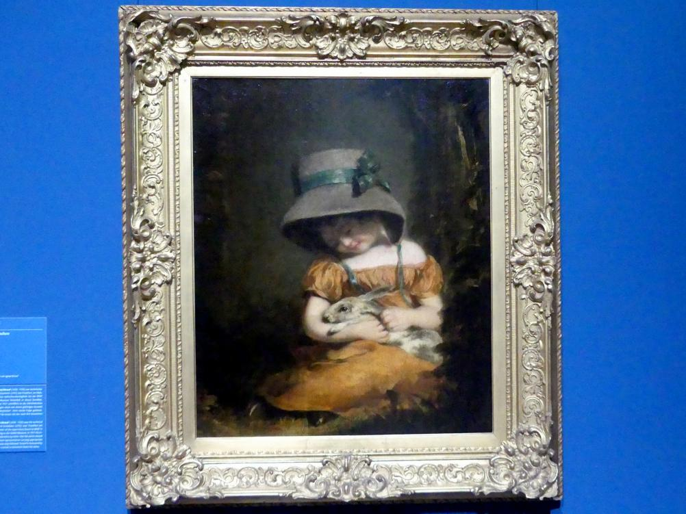 John Hoppner: Mädchen mit Kaninchen, um 1800
