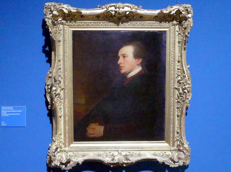 George Romney: Bildnis eines jungen Mannes an seinem Lesetisch, um 1770 - 1790