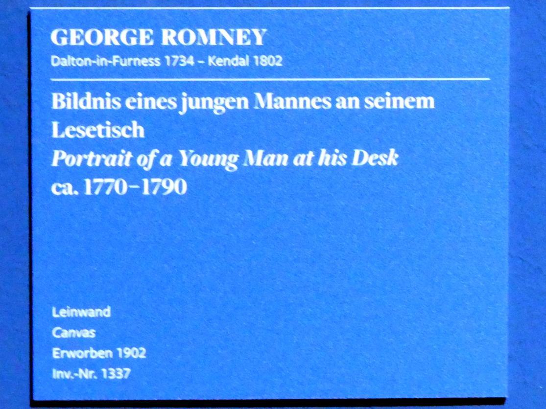 George Romney: Bildnis eines jungen Mannes an seinem Lesetisch, um 1770 - 1790, Bild 2/2