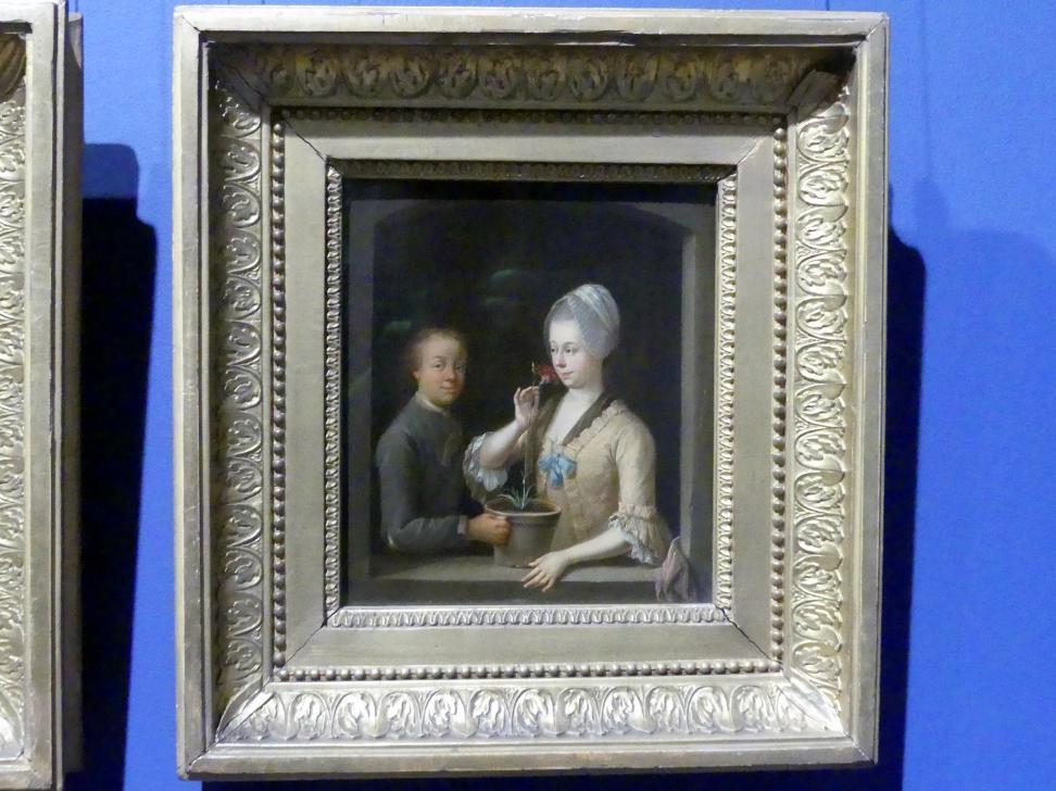 Johann Andreas Herrlein: Frau und junger Mann am Fenster, um 1770 - 1780