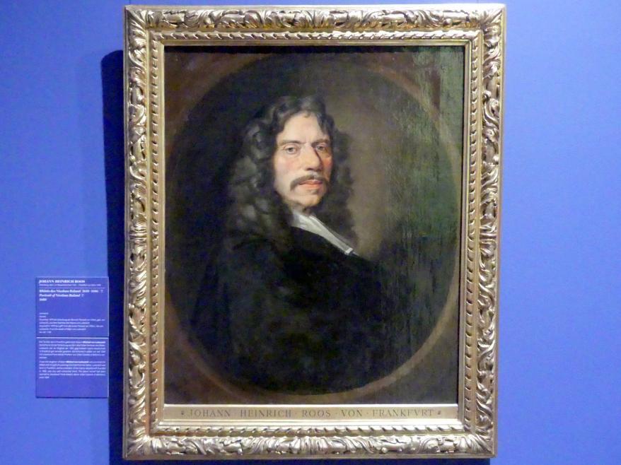 Johann Heinrich Roos: Bildnis der Nicolaus Ruland (1618-1686) (?), 1680