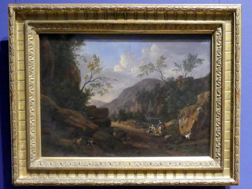 Johann Franz Ermels (Johann Franciscus Ermels): Felsige Landschaft im Abendlicht, Um 1660 - 1670