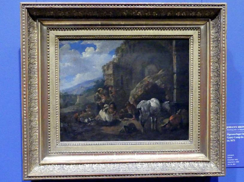 Johann Heinrich Roos: Zigeunerlager in einer römischen Ruine, Um 1671