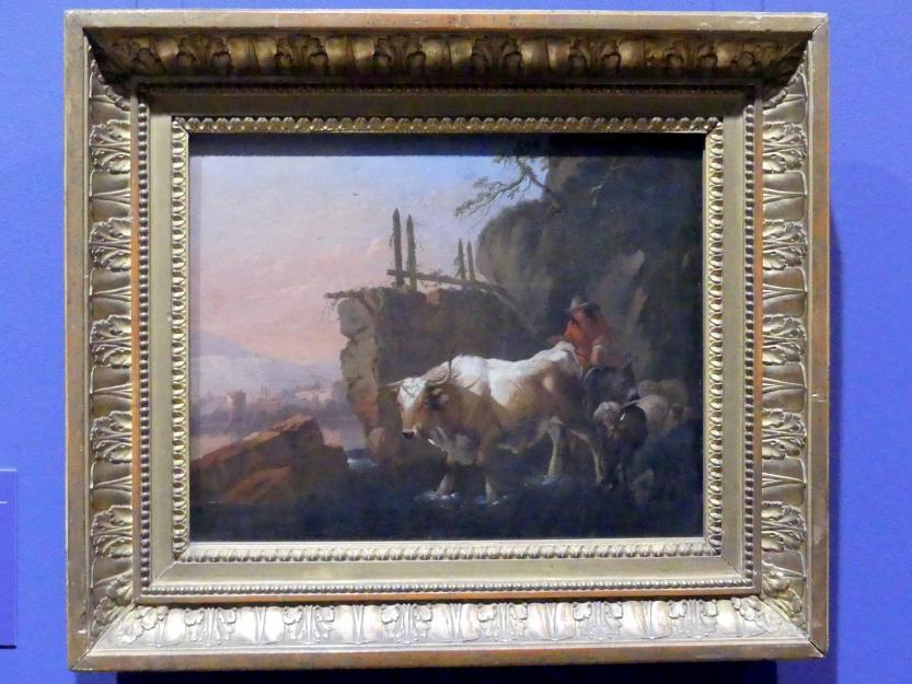 Johann Heinrich Roos: Hirten mit Vieh an einer Furt, 1670