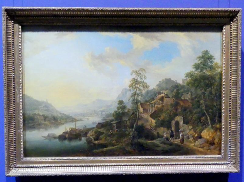 Christian Georg Schütz der Ältere: Flusslandschaft im Morgenlicht, Um 1760 - 1770