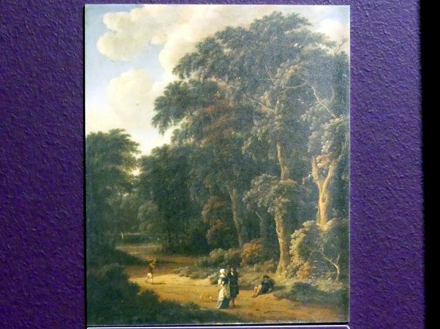 Salomon Rombouts: Waldlandschaft mit Spaziergängern, Um 1673 - 1674