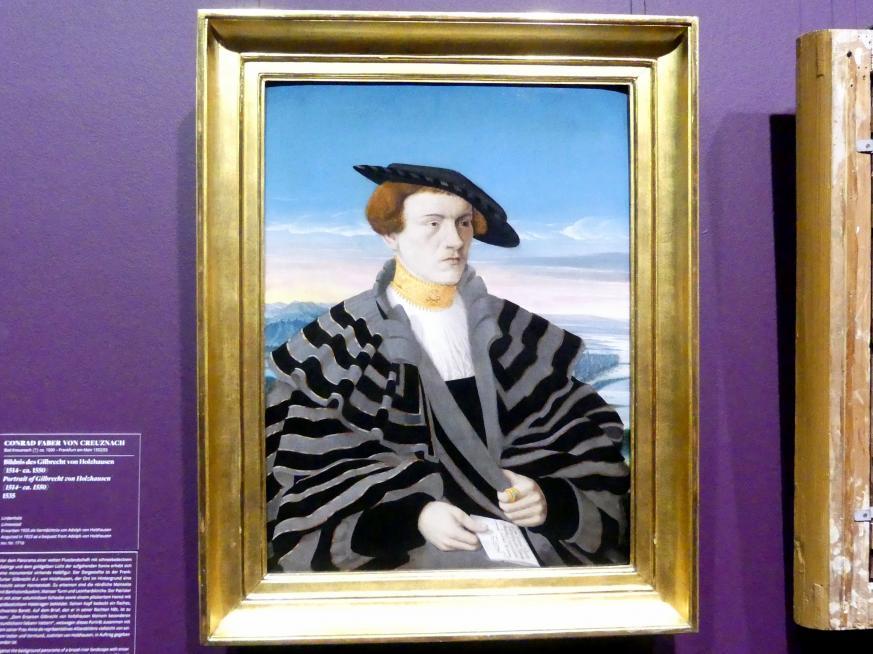 Conrad Faber von Kreuznach: Bildnis des Gilbrecht von Holzhausen (1514 - ca. 1550), 1535