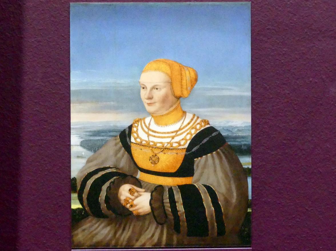 Conrad Faber von Kreuznach: Bildnis der Anna von Holzhausen, geb. Ratzenberg (gest. 1537), 1535