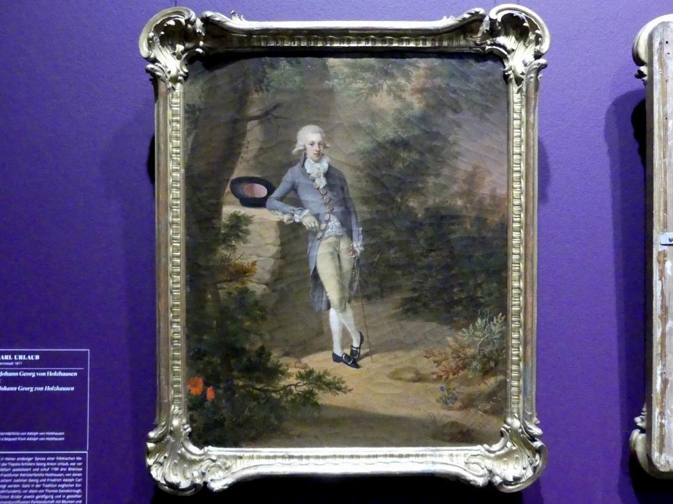 Georg Karl Urlaub: Bildnis des Johann Georg von Holzhausen (1771-1846), 1789