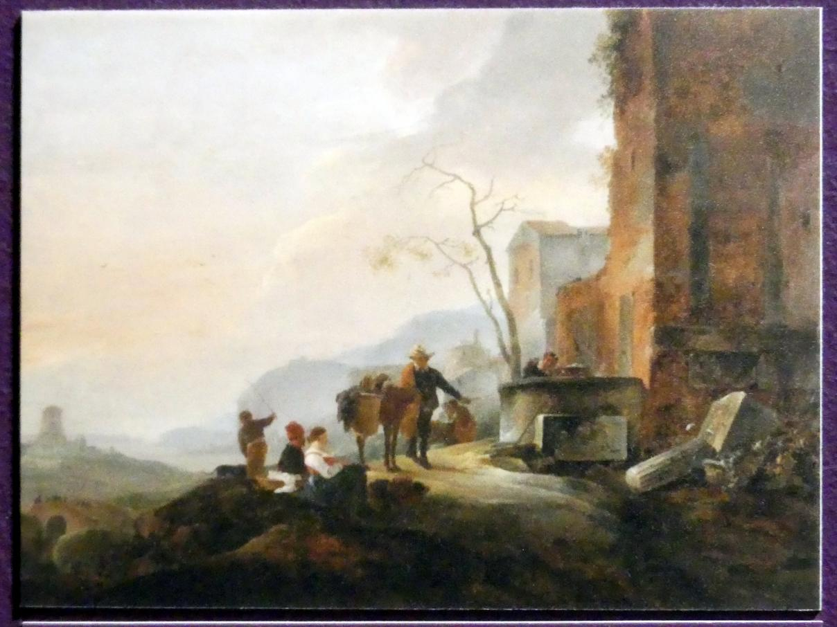 Thomas Wyck (Wijck): Italienische Landschaft mit Figuren an einem Brunnen, Um 1645 - 1650