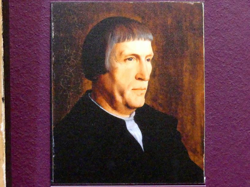 Jan van Scorel: Bildnis eines Mannes (Fragment), Um 1530