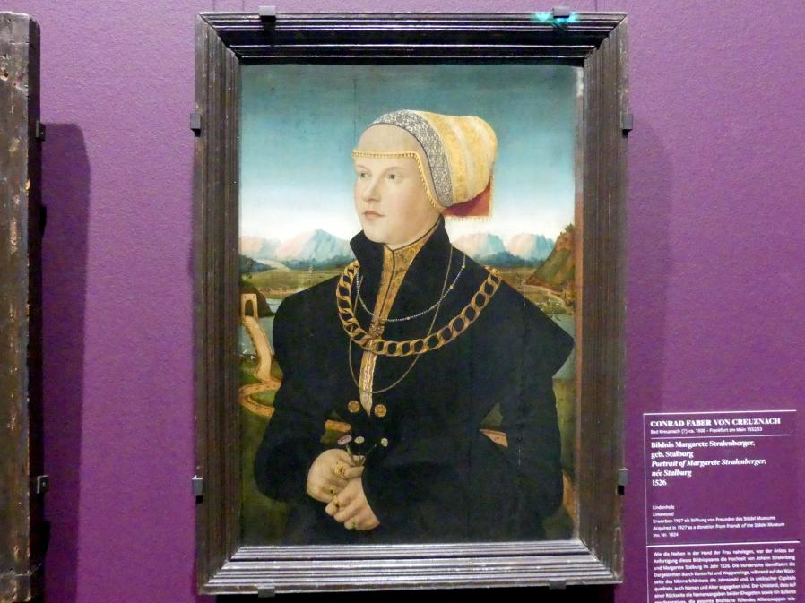 Conrad Faber von Kreuznach: Bildnis Margarete Stralenberger, geb. Stalburg, 1526