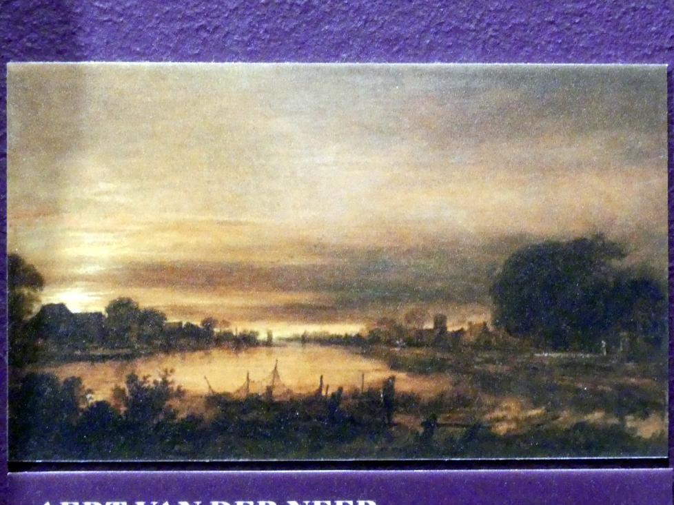 Aert van der Neer: Landschaft mit Kanal in der Abenddämmerung, um 1660 - 1670