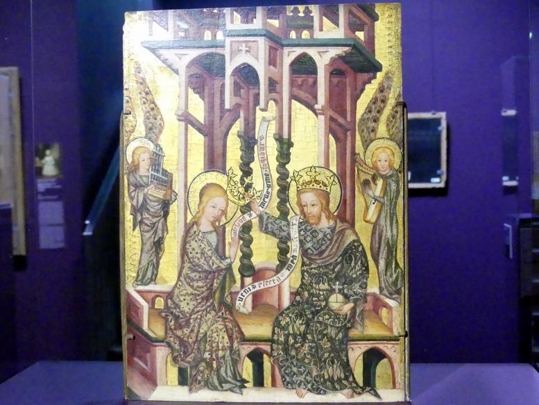 Marienkrönung, Rückseite: Kreuztragung Christi (Fragment eines Altarflügels), um 1740 - 1750