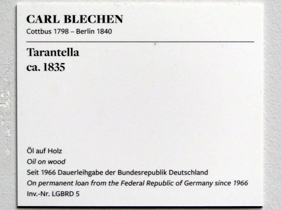Carl Blechen: Tarantella, um 1835, Bild 2/2