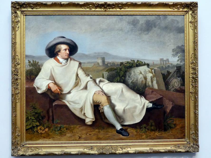 Johann Heinrich Wilhelm Tischbein: Goethe in der römischen Campagna, 1787