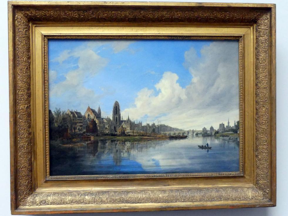 Domenico Quaglio: Ansicht von Frankfurt am Main, 1831