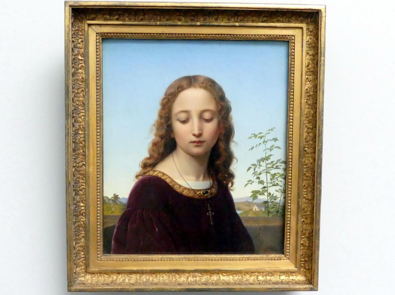 Ernst Deger: Bildnis eines jungen Mädchens, 1835