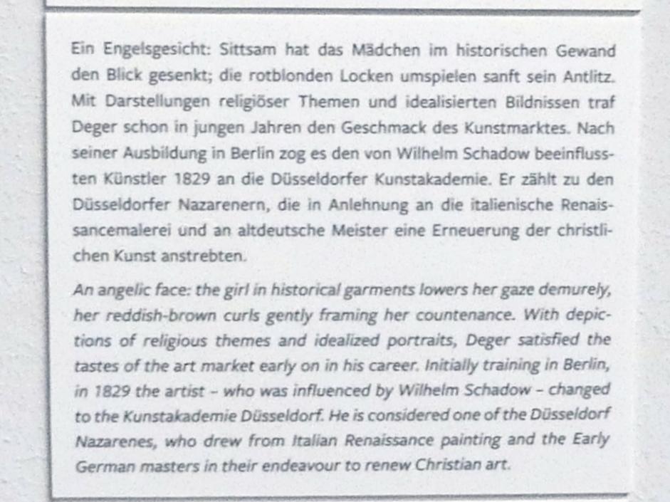 Ernst Deger: Bildnis eines jungen Mädchens, 1835, Bild 3/4