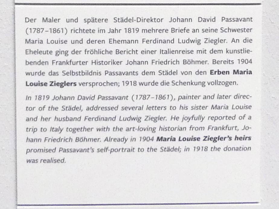 Johann David Passavant: Selbstbildnis mit Barett vor römischer Landschaft, 1818, Bild 4/4
