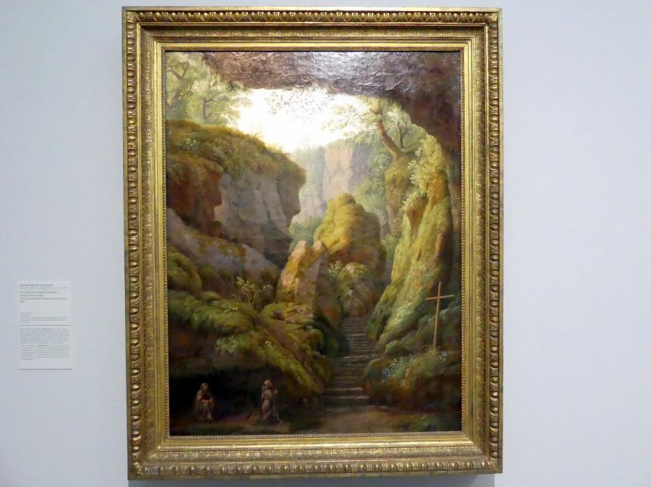 Jakob Philipp Hackert: Die Grotte des heiligen Franziskus auf dem Monte Verna, 1801