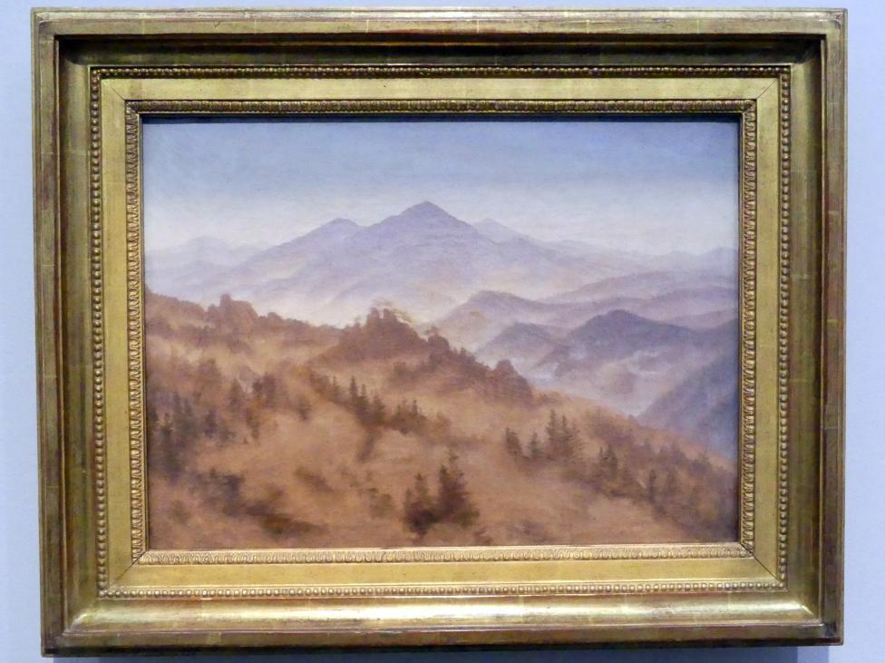 Caspar David Friedrich: Gebirge bei aufsteigendem Nebel, um 1835