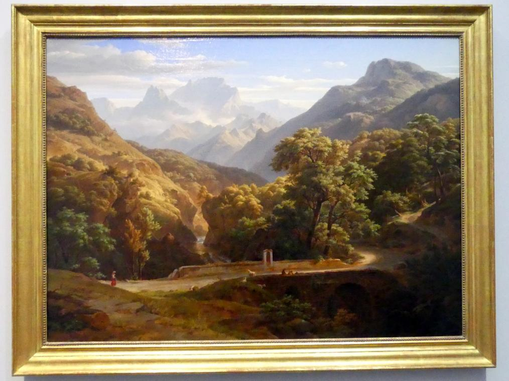 Ernst Fries: Gebirgslandschaft, 1832