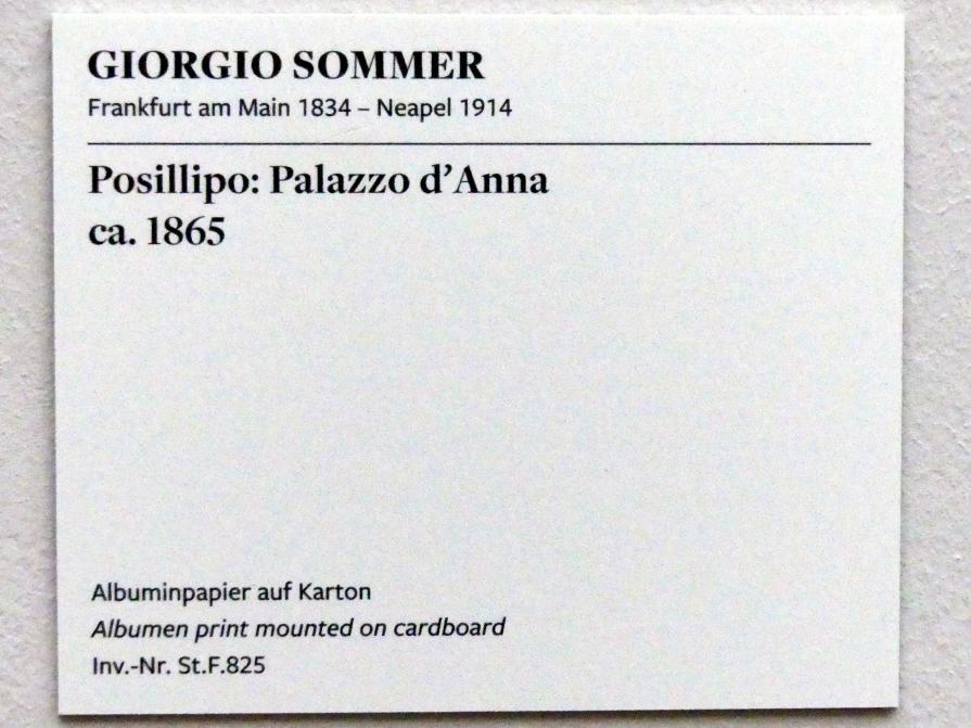 Giorgio Sommer: Posillipo: Palazzo d'Anna, um 1865, Bild 2/2