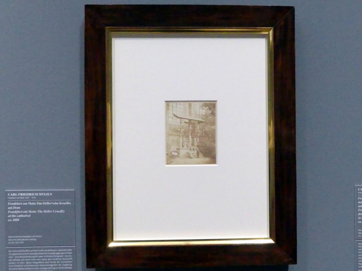 Carl Friedrich Mylius: Frankfurt am Main: Das Heller'sche Kruzifix am Dom, um 1858
