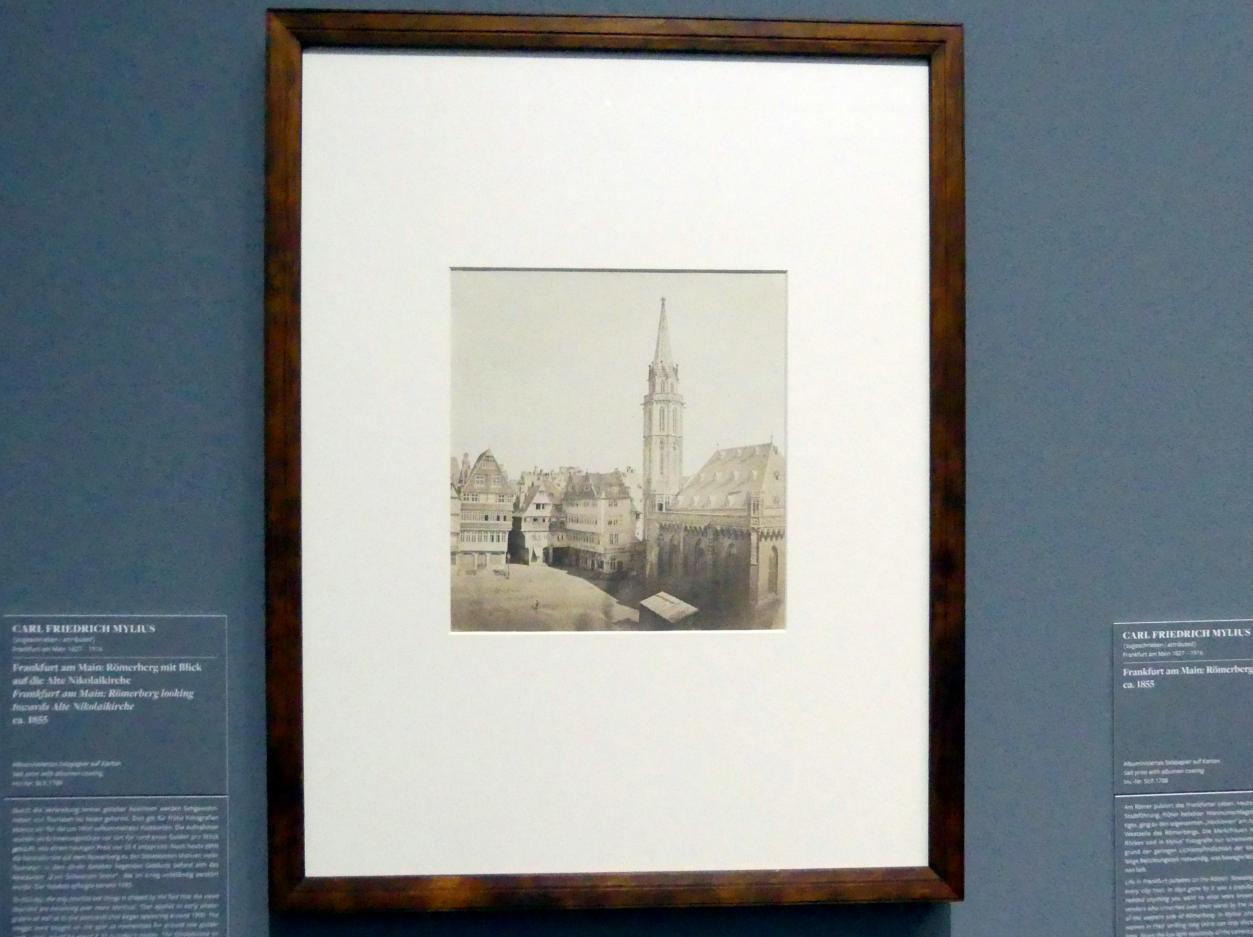 Carl Friedrich Mylius: Frankfurt am Main: Römerberg mit Blick auf die Alte Nikolaikirche, um 1855
