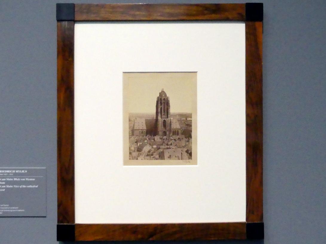 Carl Friedrich Mylius: Frankfurt am Main: Blick von Westen auf den Dom, um 1866