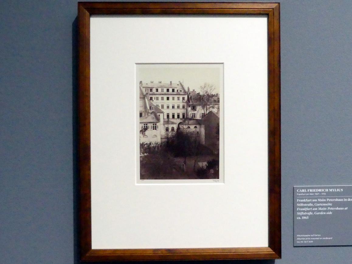 Carl Friedrich Mylius: Frankfurt am Main: Petershaus in der Stiftstraße, Gartenseite, um 1865