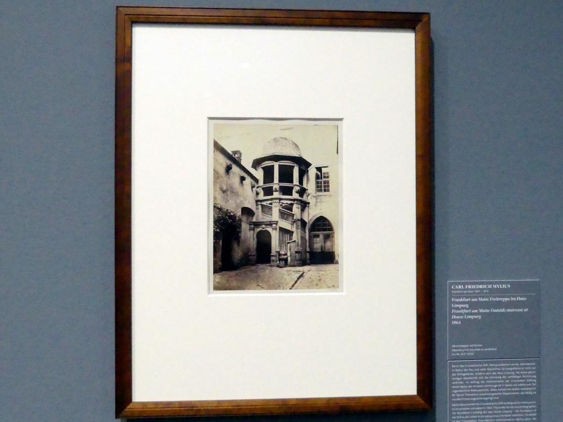 Carl Friedrich Mylius: Frankfurt am Main:Freitreppe im Haus Limpurg, 1864