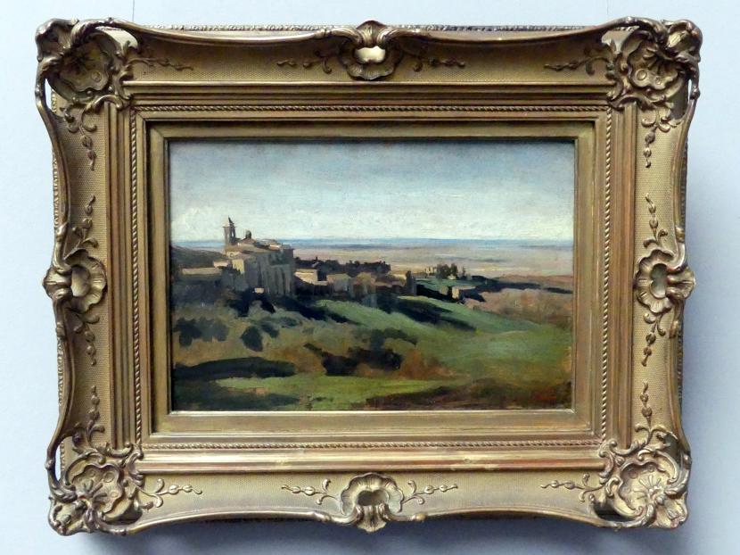 Jean-Baptiste Camille Corot: Blick auf Marino in den Albaner Bergen am frühen Morgen, 1826 - 1827