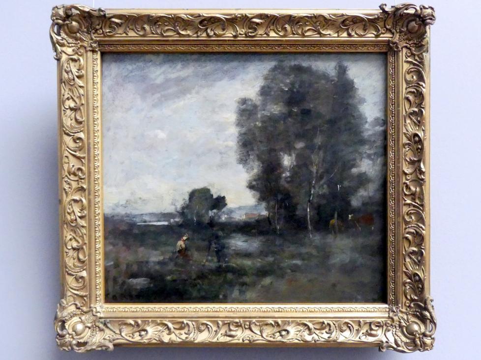 Jean-Baptiste Camille Corot: Sommerlandschaft, 1855 - 1860