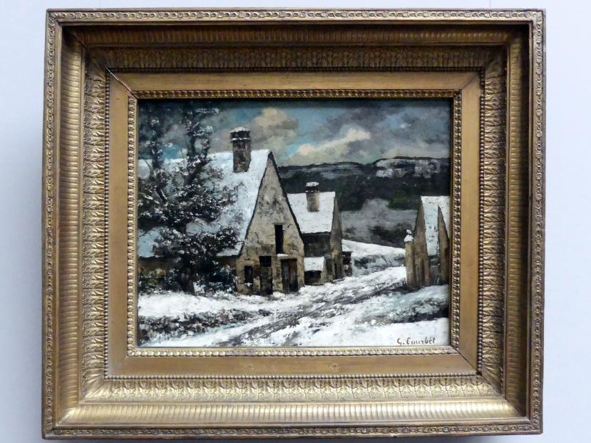 Gustave Courbet: Dorfausgang im Winter, um 1868