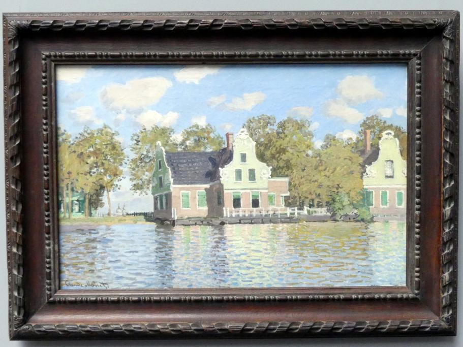 Claude Monet: Häuser am Ufer des Zaan, 1871