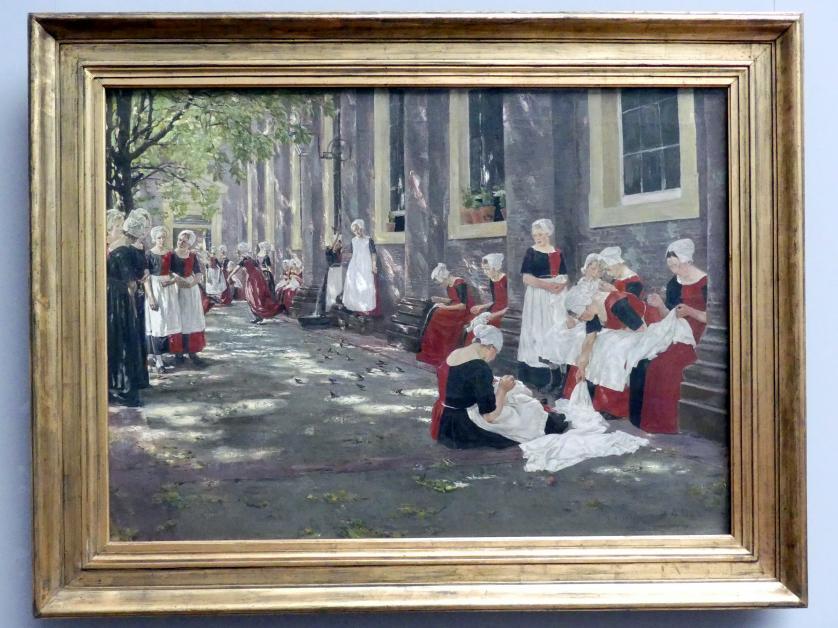 Max Liebermann: Freistunde im Amsterdamer Waisenhaus, 1881 - 1882