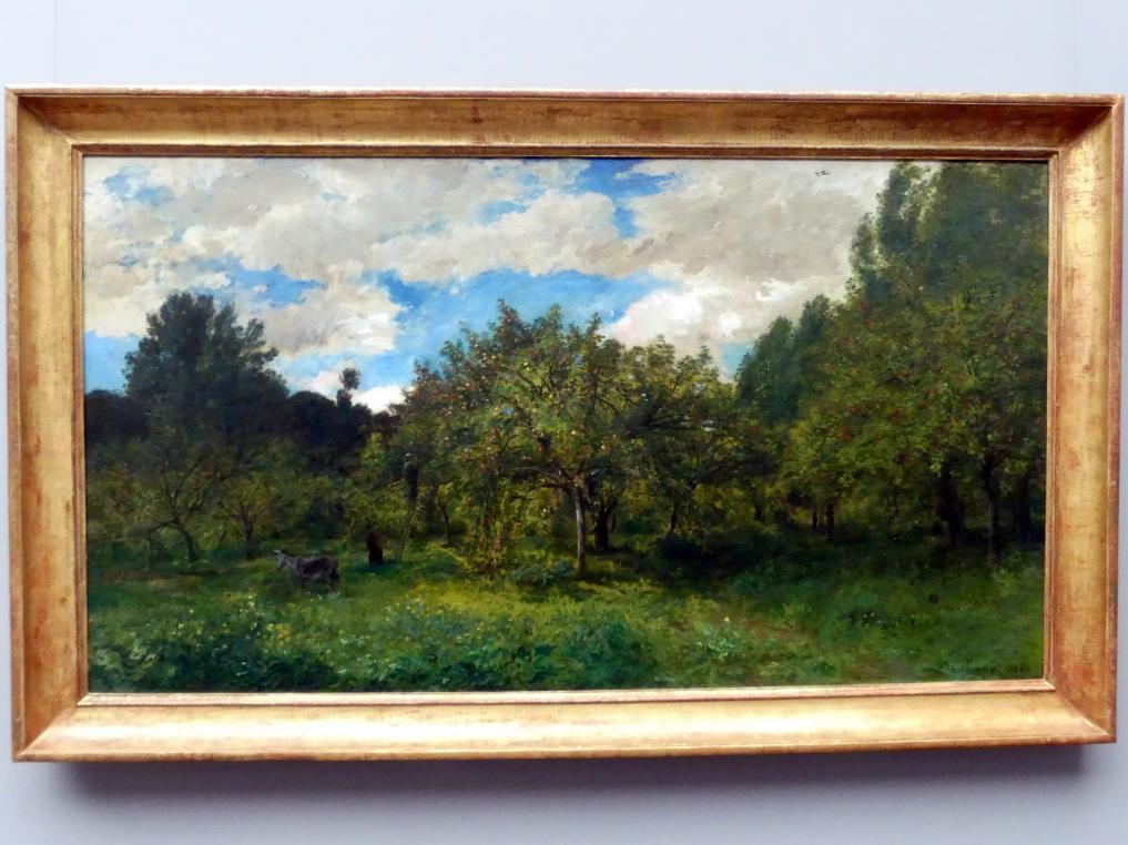 Charles-François Daubigny: Französischer Obstgarten zur Erntezeit (Le verger), 1876