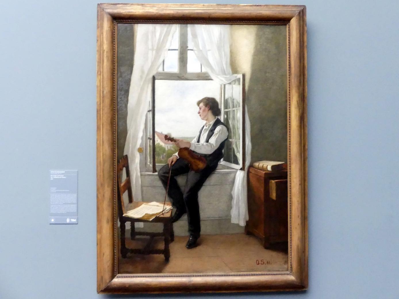 Otto Scholderer: Der Geiger am Fenster, 1861