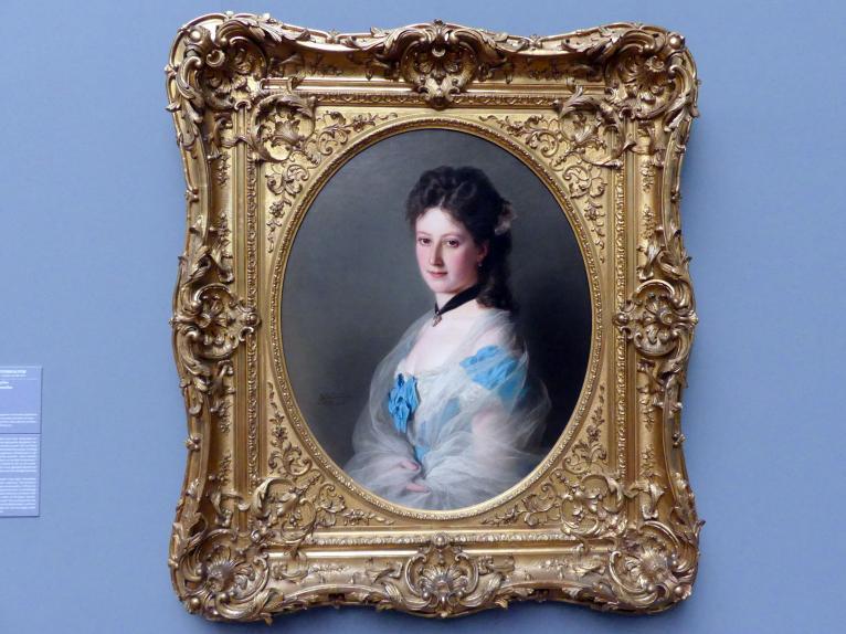 Franz Xaver Winterhalter: Portrait Olga von Grunelius, 1872